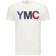 YMC Men's Print Cotton Slub Jersey T-Shirt - White