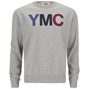 YMC Men's Print Slub Cotton Loopback Sweatshirt - Grey