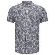 YMC Men's Astro Star Shirt - Indigo Print Chambray