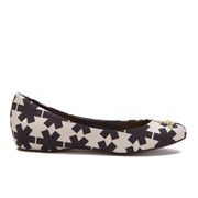 Vivienne Westwood Anglomania Women's Hara II Printed Canvas Ballerina Flats - Black/White