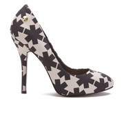 Vivienne Westwood Anglomania Women's Maggie II Asterisk Printed Court Shoes - Black/White