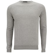 John Smedley Men's Luke Slim Fit Sea Island Cotton Pullover - Silver