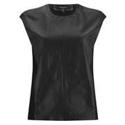 Muubaa Women's Leather Front Top - Black