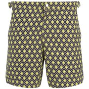 French Connection Men's Desmond Diamond Swim Shorts - Fluorescent Yellow
