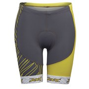 Zoot Performance Tri Team 8 Inch Shorts - Pewter/Yellow
