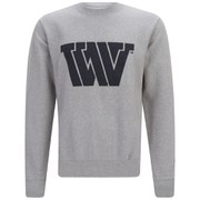 Wood Wood Men's Larry WW Sweatshirt - Grey Melange