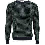 Carven Men's Micromotif Pullover - Marine