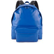 Carven Men's Leather Backpack - Blue Denim