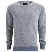 Scotch & Soda Men's Crew Neck Premium Melange Sweatshirt - Worker Blue