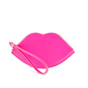 Lulu Guinness Women's Large Lip Coin Purse - Neon Pink