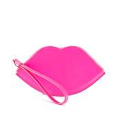 Lulu Guinness Women's Large Lip Coin Purse - Neon Pink
