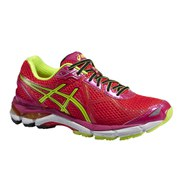 Asics Women's GT - 2000 3 Structured Cushioning Shoes - Cherry Tomato/Flash Yellow/Hot Pink