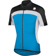 Sportful Pista Short Sleeve Jersey - Blue/Black/White