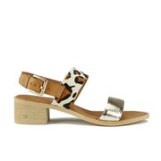 Ravel Women's Columbus Double Strap Mid Heeled Sandals - Leopard
