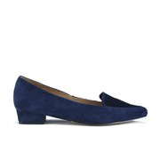 Ravel Women's Anaconda Suede Pointed Flat Shoes - Navy