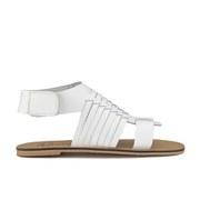 Ravel Women's Missouri Weave Flat Sandals - White Leather