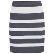 VILA Women's Cannon Striped Skirt - Grey Melange