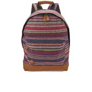 Mi-Pac Premium Peruvian Stripe Backpack - Dark Red/Green
