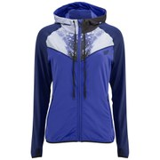 Myprotein Women's Printed Panel Zip Through Hoody - Blue