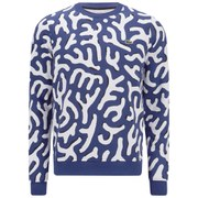 Lacoste L!ve Men's Coral Print Sweatshirt - Blue