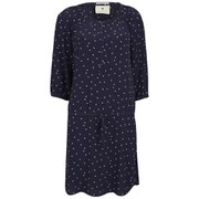 Maison Scotch Women's Printed Beaded Neckline Dress - Navy