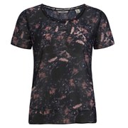 Maison Scotch Women's Sheer Photo-Printed Top - Black/Coral