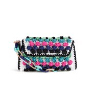 M Missoni Women's Raffia Shoulder Bag - Blue