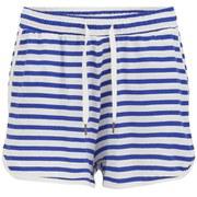 Vero Moda Women's Beaty Striped Shorts - Olympian Blue