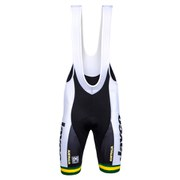 Santini Australian National Team 15 2 Max Pad Bib Shorts - White