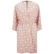 Orla Kiely Women's Daisy Gingham Jacquard Coat - Blush