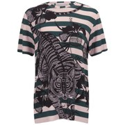 Matthew Williamson Women's T-Shirt - Peacock Hibiscus Tiger