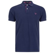 GANT Men's Contrast Collar Pique Polo Shirt - Blue