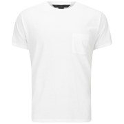 Marc by Marc Jacobs Men's Solid Slub Pocket T-Shirt - White