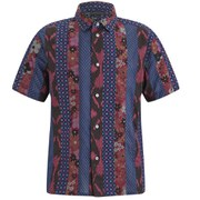 Marc by Marc Jacobs Men's Patchwork Cotton Short Sleeve Shirt - Red