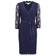 Diane von Furstenberg Women's Juliana Two Wrap Dress - Midnight