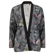 ONLY Women's Eah Flower Print Kimono - Cloud Dancer