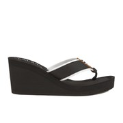 Lauren Ralph Lauren Women's Jane-Ne Wedged Flip Flops - Black/White