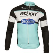 Etixx Quick-Step Replica Long Sleeve Full Zip Jersey - Black/Blue