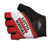 Lotto Soudal Replica Mitts - Black/Red/White