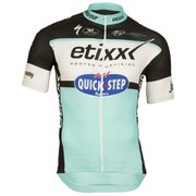 Etixx Quick-Step Replica Short Sleeve Full Zip Jersey - Black/Blue