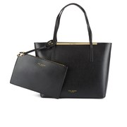 Ted Baker Women's Isbell Zip Purse Crosshatch Shopper Bag - Black