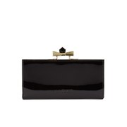 Ted Baker Women's Franny Patent Square Crystal Popper Back Matinee Purse - Black