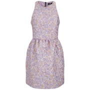 Markus Lupfer Women's Floral Puff Jacquard Erica Dress - Lilac