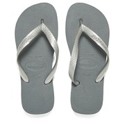 Havaianas Unisex Top Metallic Flip Flops - Steel Grey