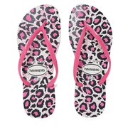 Havaianas Women's Slim Animals Flip Flops - White/Rose