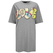 Love Moschino Women's Love T-Shirt Dress - Grey