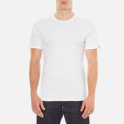 Levi's Men's Slim 2 Pack Crew T-Shirts - White/White