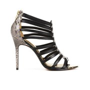 Ted Baker Women's Jickai Multi Strap Heeled Sandals - Black Leather/Exotic