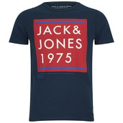 Jack & Jones Men's Colour T-Shirt - Dress Blue