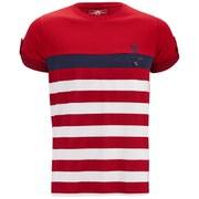 Ringspun Men's Finkle Stripe T-Shirt - Red